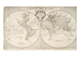 A Map of World  Corrected from the Observations to the Royal Societies of London and Paris