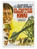 Bridge on the River Kwai  Spanish Movie Poster  1958