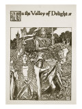 In the Valley of Delight  illustration from 'The Story of King Arthur and his Knights'  1903