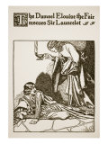 Damsel Elouise the Fair Rescues Sir Launcelot  for 'The Story of Sir Launcelot and His Companions'