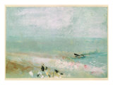 Beach with Figures and a Jetty C1830