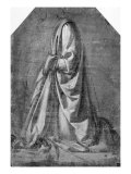 Drapery Study for a Kneeling Figure Seen in Three-quarter Profile to the Left  c1475