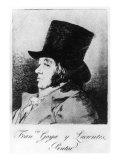 Self Portrait  Plate 1 of 'Los Caprichos'  Pub 1799