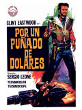 A Fistful of Dollars  Spanish Movie Poster  1964