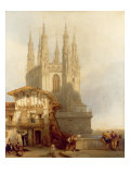 The Entrance to the North Transept  Burgos Castle  1835