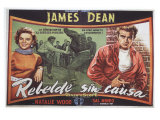 Rebel Without a Cause  Spanish Movie Poster  1955