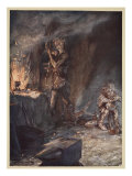 The forging of Nothung  illustration from 'Siegfried and the Twilight of the Gods'  1924