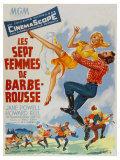 Seven Brides for Seven Brothers  French Movie Poster  1954
