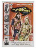 Planet of the Apes  Spanish Movie Poster  1968