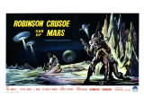 Robinson Crusoe on Mars  Belgian Movie Poster  1964