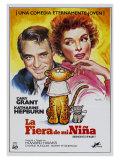 Bringing Up Baby  Spanish Movie Poster  1938