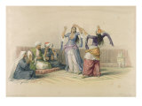 Dancing Girls at Cairo  from &#39;Egypt and Nubia&#39;  engraved by Louis Haghe