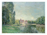 The Loing Canal and the Church at Moret  1886