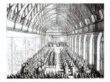 Garter Feast in St George&#39;s Hall  Windsor  in the time of Charles II  1672