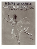 Poster for the 'saison Russe' at the Theatre Du Chatelet  1909