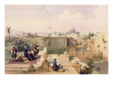 Mosque of Omar Showing the Site of Temple  from Volume I of 'The Holy Land' engraved by Louis Haghe