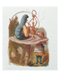 Alice and the Caterpillar  Illustration from 'Alice in Wonderland' by Lewis Carroll