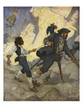 For all the world  I was led like a dancing bear an illustration from 'Treasure Island' by Robert L