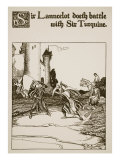 Sir Launcelot Doeth Battle with Sir Turquine  Illustration from 'The Story of the Champions of the