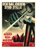 The Day The Earth Stood Still  Danish Movie Poster  1951