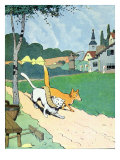 Illustration from &#39;Le Roman de Renard&#39;  c1900