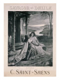 Poster Advertising &#39;Samson and Dalila&#39;  opera by Camille Saint Saens