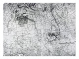 A Section of a Sheet from the Survey of London and its Environs  1741-5  pub 1769