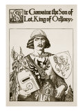 Sir Gawaine the Son of Lot  King of Orkney  Illustration 'The Story of King Arthur and His Knights'