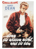 Rebel Without a Cause  German Movie Poster  1955