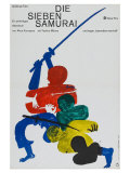 Seven Samurai  German Movie Poster  1954