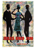 Jules and Jim  German Movie Poster  1961