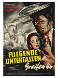 Earth vs the Flying Saucers  German Movie Poster  1956