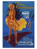 The Seven Year Itch  French Movie Poster  1955
