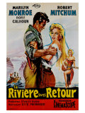 River of No Return  French Movie Poster  1954