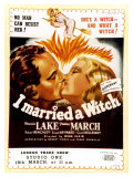 I Married a Witch  UK Movie Poster  1942