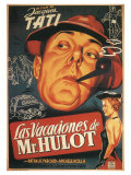 Mr Hulot's Holiday  Spanish Movie Poster  1953