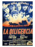Stagecoach  Spanish Movie Poster  1939