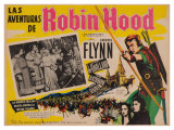 The Adventures of Robin Hood  Mexican Movie Poster  1938