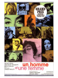 A Man and a Woman  French Movie Poster  1966