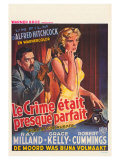 Dial M For Murder  Belgian Movie Poster  1954