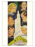 Grand Hotel  German Movie Poster  1932