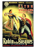 The Adventures of Robin Hood  Spanish Movie Poster  1938