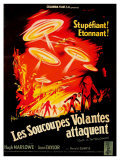 Earth vs the Flying Saucers  French Movie Poster  1956