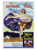 Affair in Trinidad  Australian Movie Poster  1952