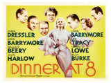 Dinner at Eight  UK Movie Poster  1933