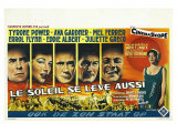 The Sun Also Rises  Belgian Movie Poster  1957