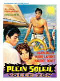 Purple Noon  Belgian Movie Poster  1964