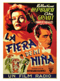 Bringing Up Baby  Spanish Movie Poster  1938