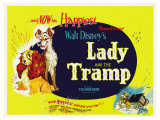 Lady and the Tramp, 1955 Reproduction d'art