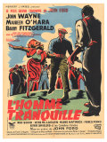 The Quiet Man  French Movie Poster  1952